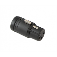 Low-Profile XLR 3-pin Female - Black