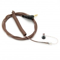 The Sidekick in-ear monitor, mono (R), brown cable
