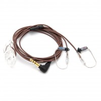 The Sidekick in-ear monitor, stereo, brown cable