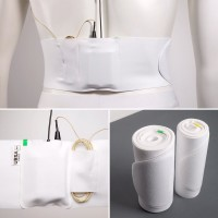 Waist Strap Large - white, small pouch
