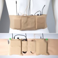 Double Pouch Medium - beige, big pouch